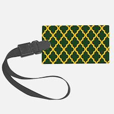 Moroccan Quatrefoil Pattern: Yel Luggage Tag