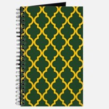 Moroccan Quatrefoil Pattern: Yellow & Gree Journal