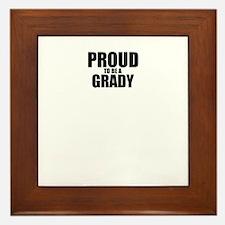 Proud to be GRADY Framed Tile