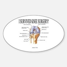 Knee Surgery Gift 3 Oval Decal