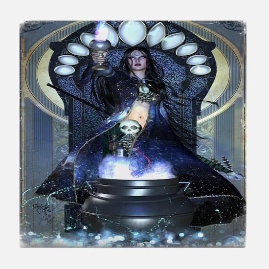 Mystic Cerridwen Altar Foci Tile Coaster