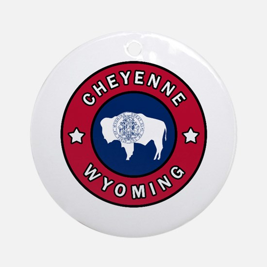 Unique Wyoming Round Ornament