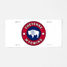 Cheyenne Wyoming Aluminum License Plate