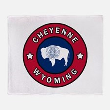 Cheyenne Wyoming Throw Blanket