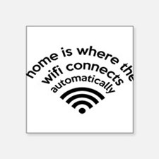 The Wifi Connects Automatically At Home Sticker