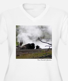 Bison Steambath, Yellowstone Plus Size T-Shirt