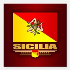 "Sicilia Square Car Magnet 3"" x 3"""