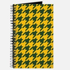 Houndstooth Checkered: Green & Yellow Journal