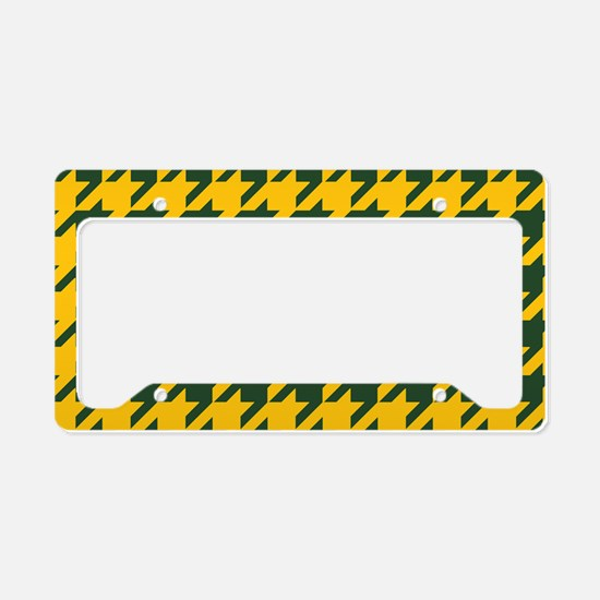Houndstooth Checkered: Green License Plate Holder