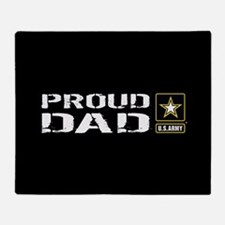 U.S. Army: Proud Dad (Black) Throw Blanket