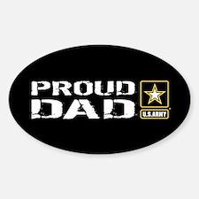 U.S. Army: Proud Dad (Black) Decal