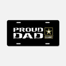U.S. Army: Proud Dad (Black Aluminum License Plate