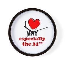 May 31st Wall Clock