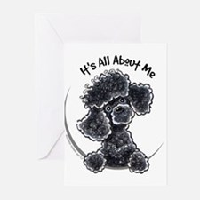 Black Poodle Lover Greeting Cards