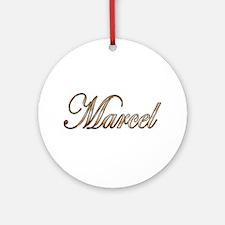 Cute Marcel Round Ornament