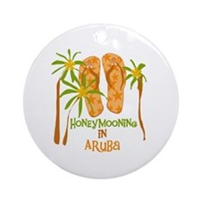 Honeymoon Aruba Ornament (Round)