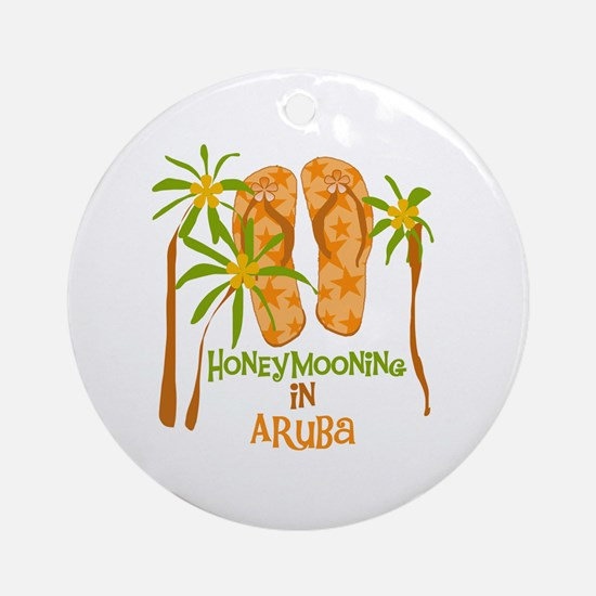 Honeymoon Aruba Round Ornament