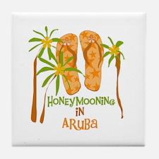 Honeymoon Aruba Tile Coaster
