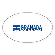 Granada, Nicaragua Oval Decal