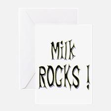 Milk Rocks ! Greeting Card