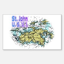 St. John U.S.V.I. chart Rectangle Decal