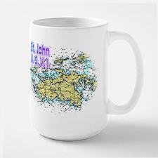 St. John U.S.V.I. chart Large Mug
