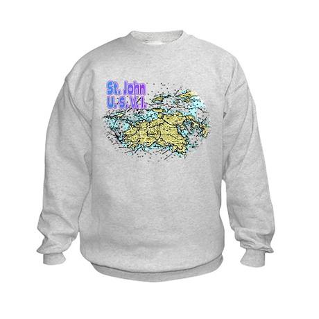 St. John U.S.V.I. chart Kids Sweatshirt