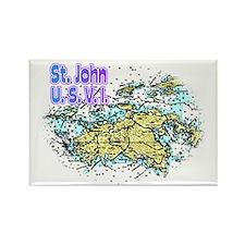 St. John U.S.V.I. chart Rectangle Magnet