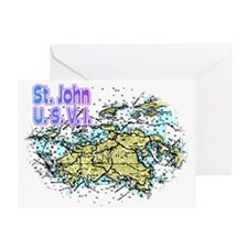 St. John U.S.V.I. chart Greeting Card