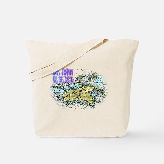 St. John U.S.V.I. chart Tote Bag