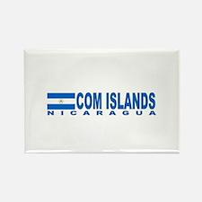 Com Islands, Nicaragua Rectangle Magnet
