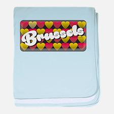 Brussels Heart baby blanket