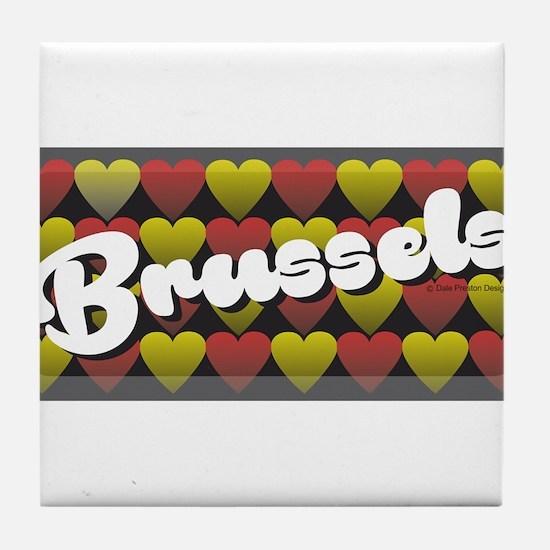 Brussels Heart Tile Coaster
