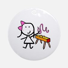 Girl & Gymnastics Ornament (Round)
