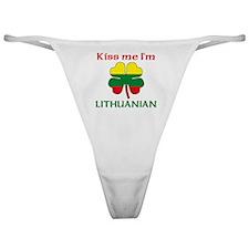 Kiss Me I'm Lithuanian Classic Thong