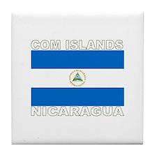 Com Islands, Nicaragua Tile Coaster