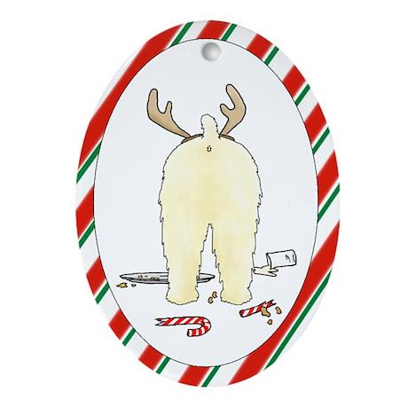 Wheaten Terrier Christmas Oval Ornament
