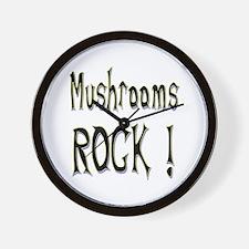 Mushrooms Rock ! Wall Clock