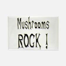 Mushrooms Rock ! Rectangle Magnet