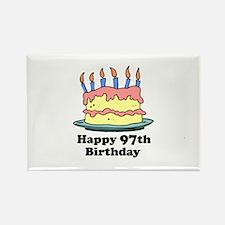 Happy 97th Birthday Rectangle Magnet