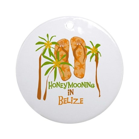 Honeymoon Belize Ornament (Round)