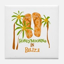 Honeymoon Belize Tile Coaster
