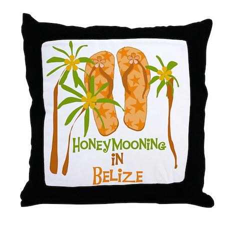 Honeymoon Belize Throw Pillow