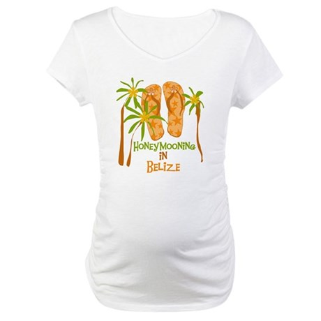 Honeymoon Belize Maternity T-Shirt
