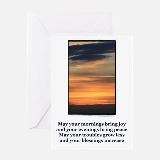 Sunset Blessings Greeting Cards