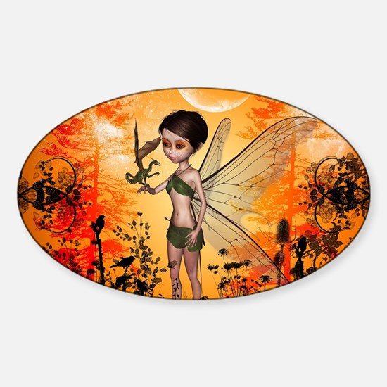 Cute fairy with little dragon Decal