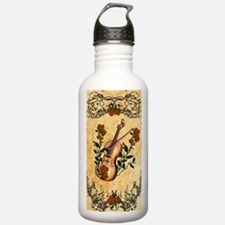 Wonderful violin with violin bow Water Bottle