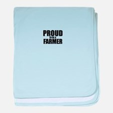 Proud to be FARMER baby blanket