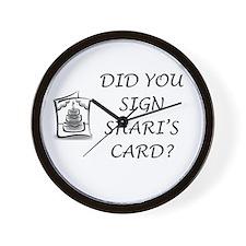 Shari's Card Wall Clock