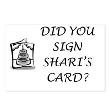 Shari's Card Postcards (Package of 8)